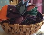 Washable pads in a basket